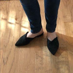 Unisa Black Suede Mules - size 8